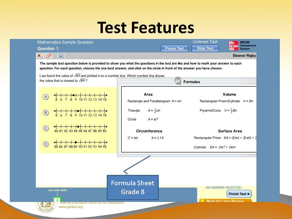 Formula Sheet Grade 8