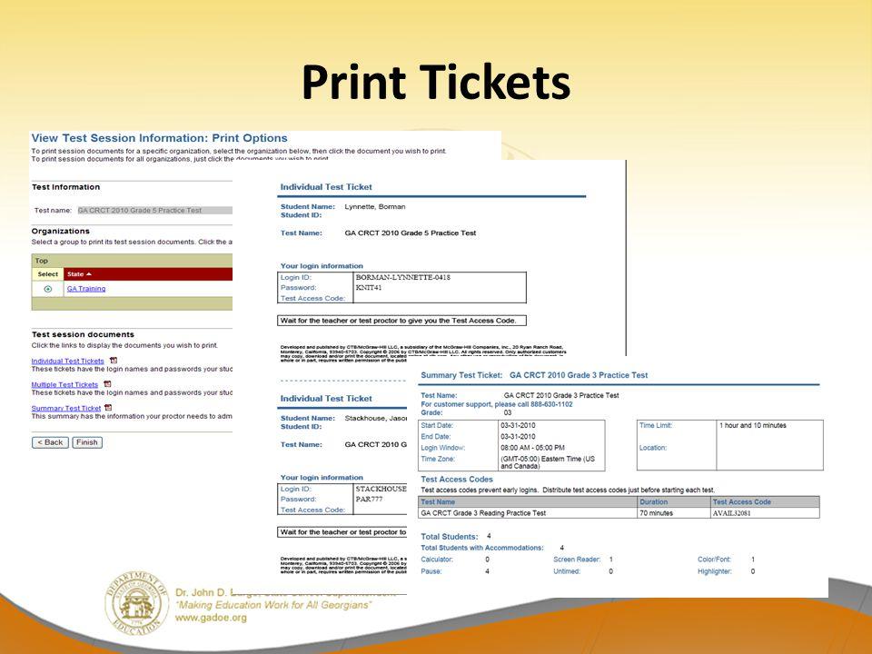 Print Tickets