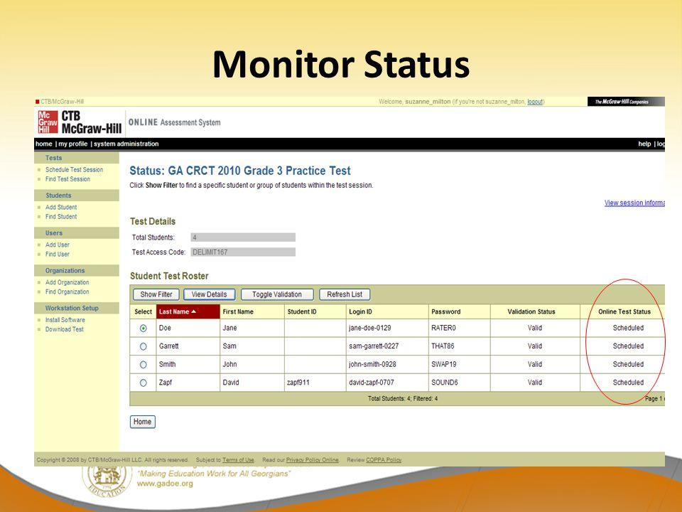 Monitor Status