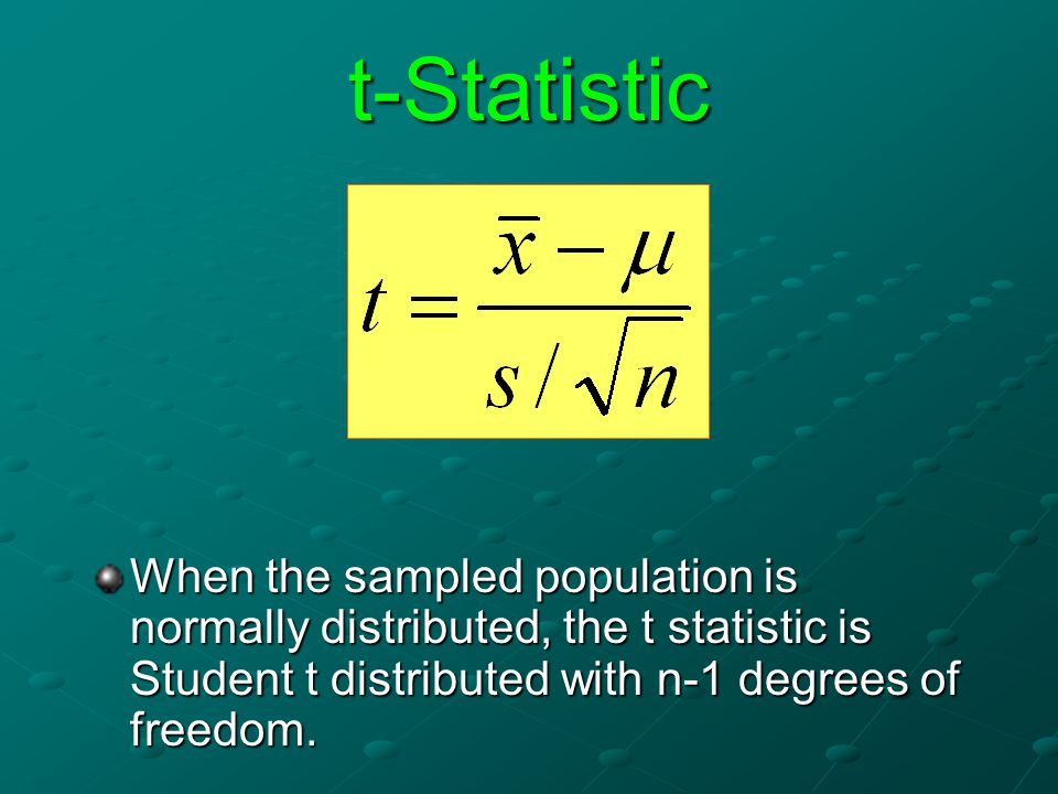 Assumptions Normal distribution Equal variance Random sampling