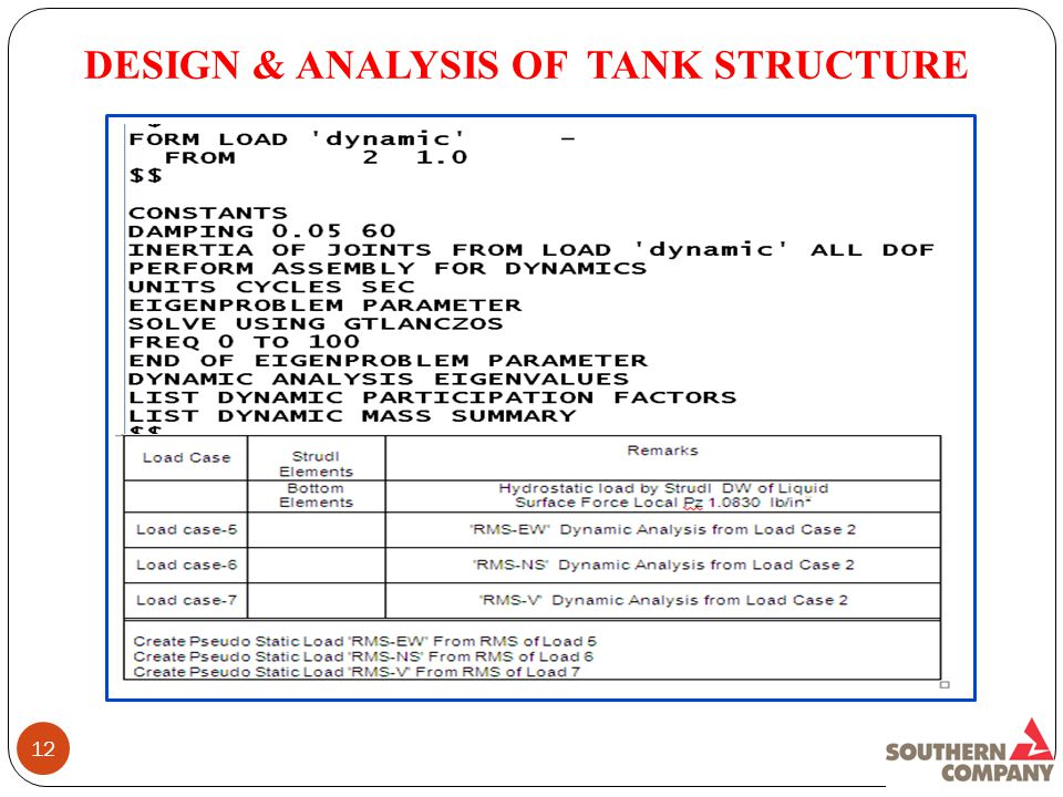 12 DESIGN & ANALYSIS OF TANK STRUCTURE
