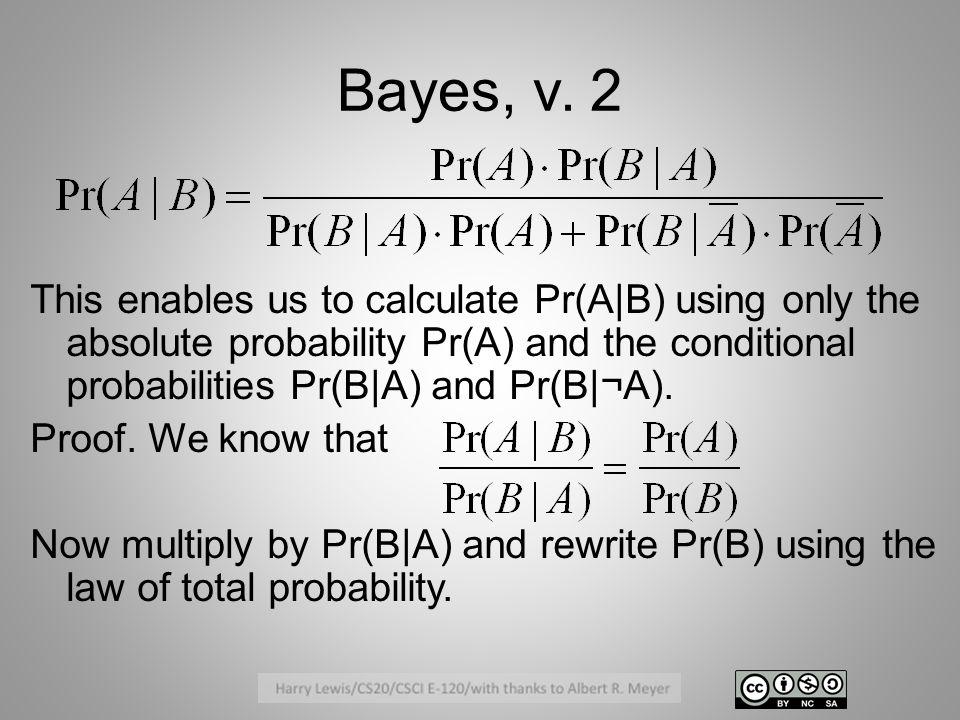 Bayes, v.