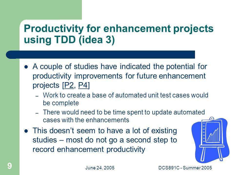 June 24, 2005DCS891C - Summer 2005 10 Presentation references [P1] B.