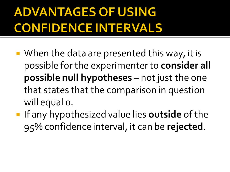 When the data are presented this way, it is possible for the experimenter to consider all possible null hypotheses – not just the one that states that