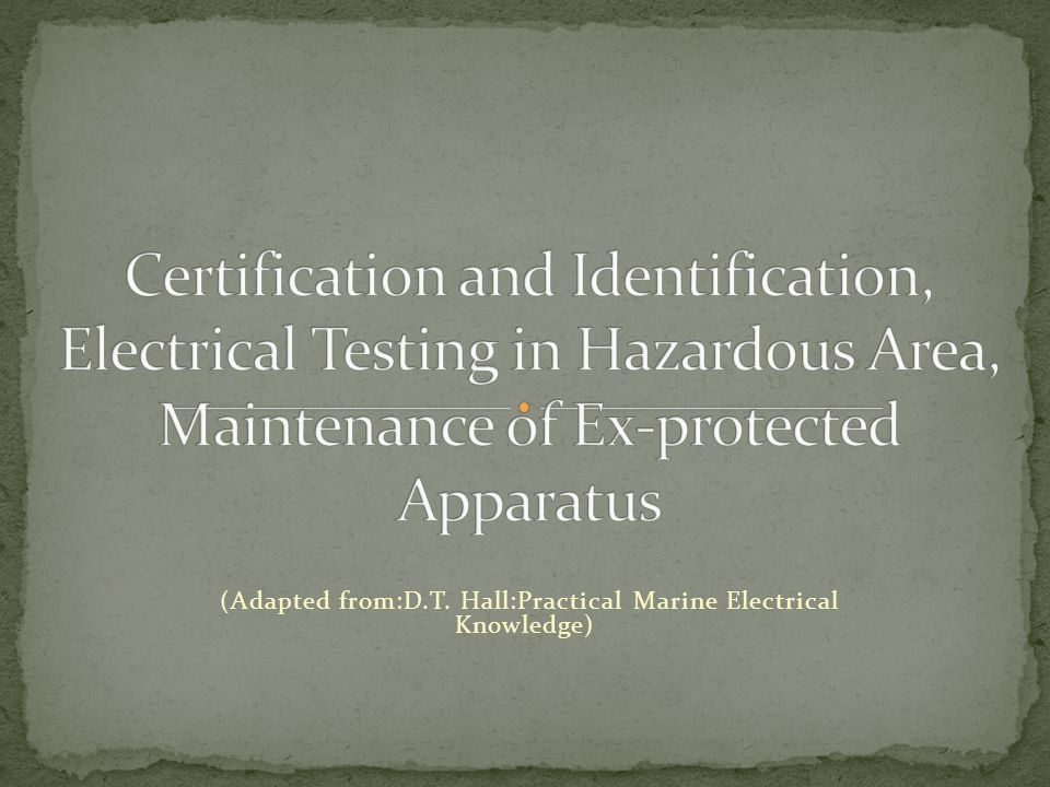 When a manufacturer produces an item of explosion protected equipment, it must be tested and inspected to ensure that it complies with the required standards relating to that type of protection.