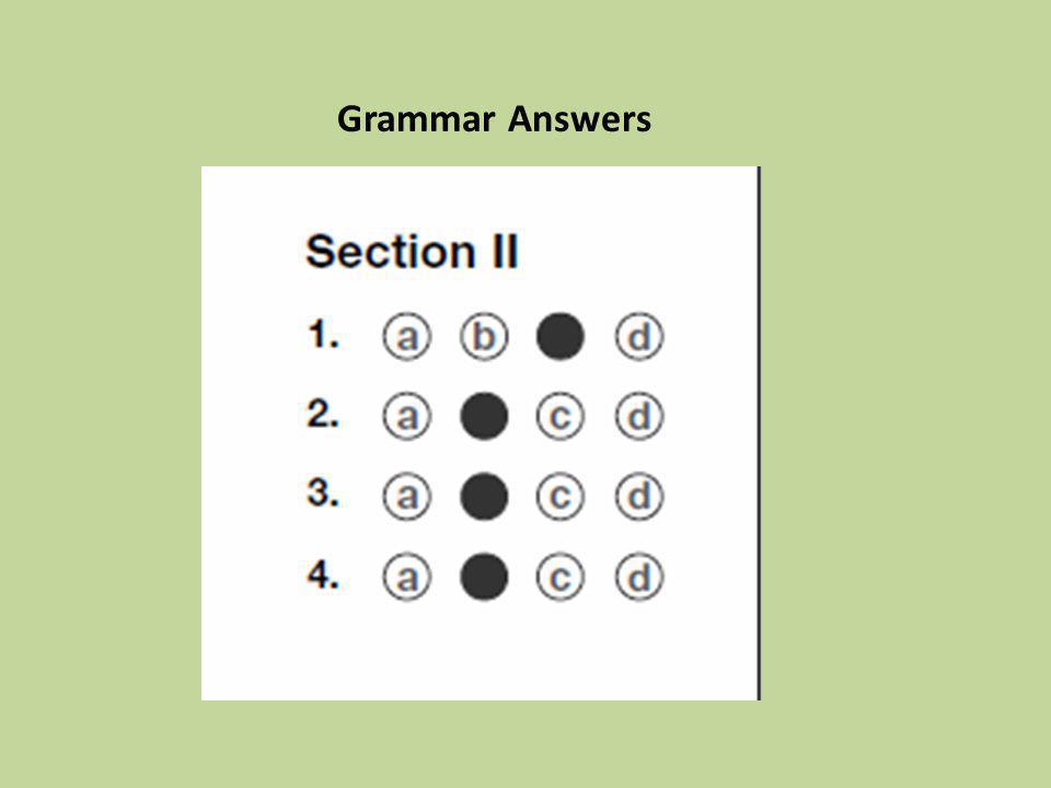 Grammar Answers