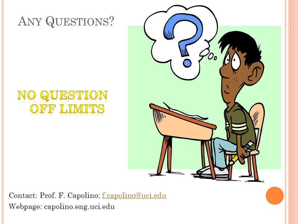 A NY Q UESTIONS . Contact: Prof. F.