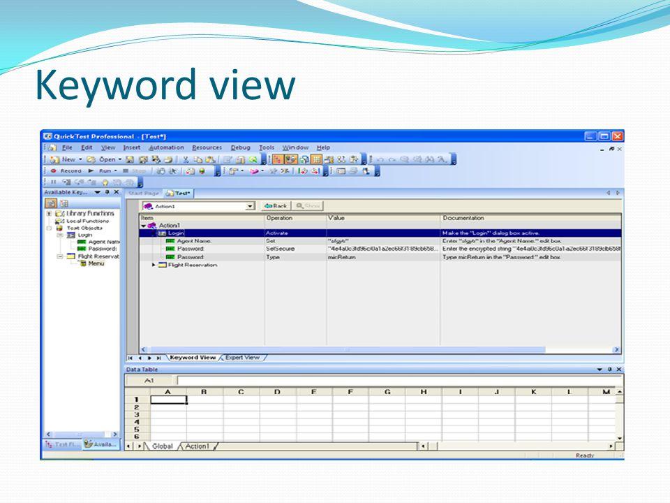 Keyword view