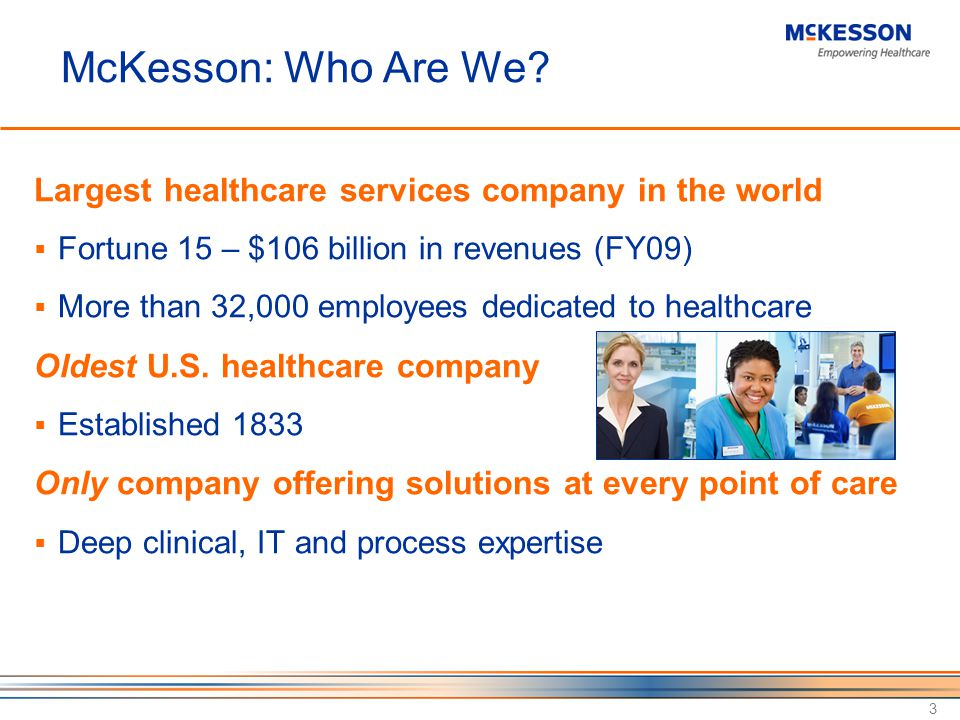 McKesson: Who Are We.