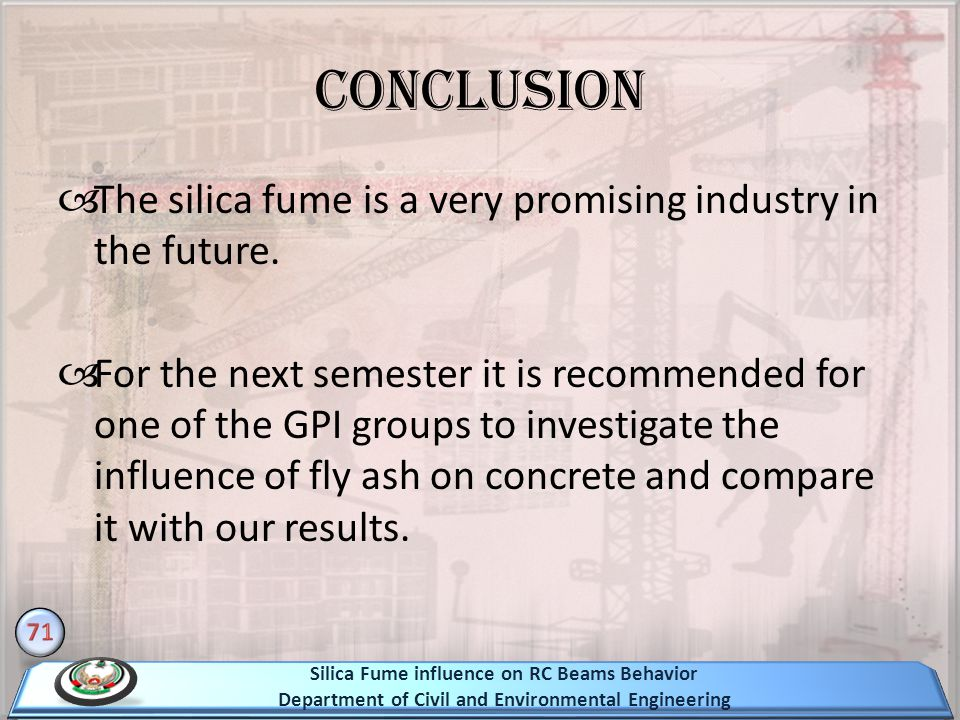 The silica fume is a very promising industry in the future.