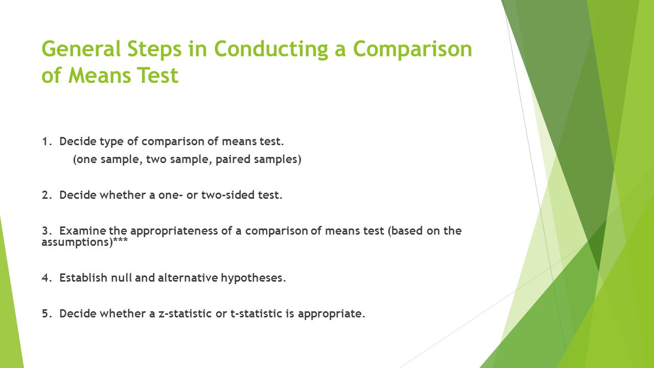 6.Calculate sample mean(s). 7. Calculate standard deviation of sample IF using a t-test.