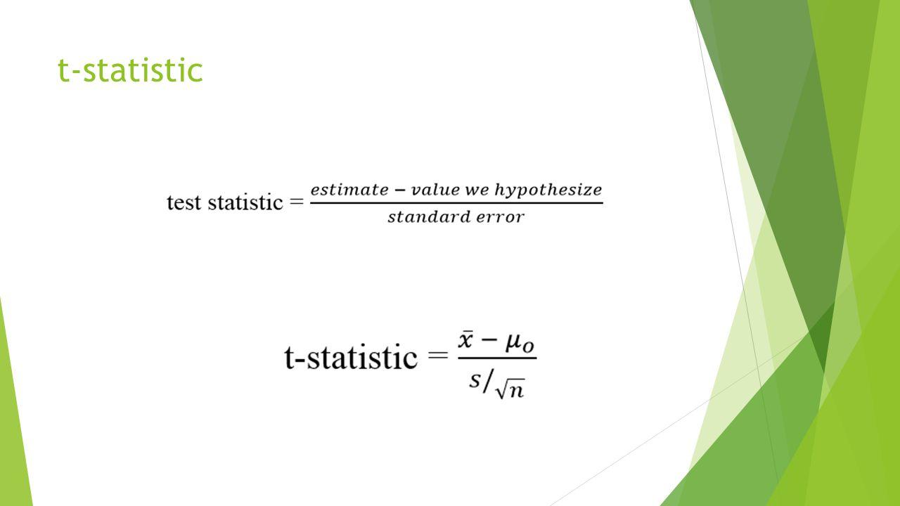 t-statistic