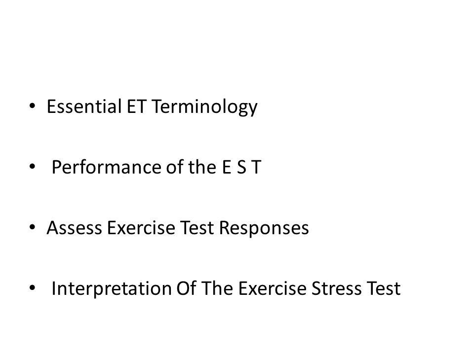 Exercise Test Terminology Vo2max METs Myocardial Oxygen Consumption