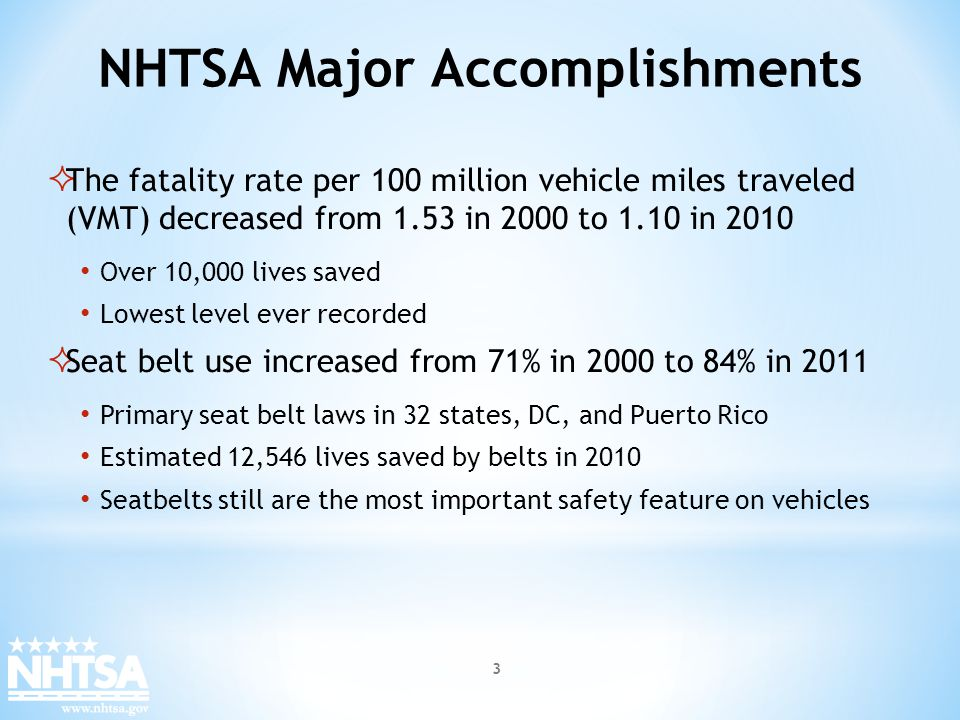 NHTSA Vehicle Safety Research Physics dictates that all energy storage sources have an inherent risk associated with their use, storage, and handling.
