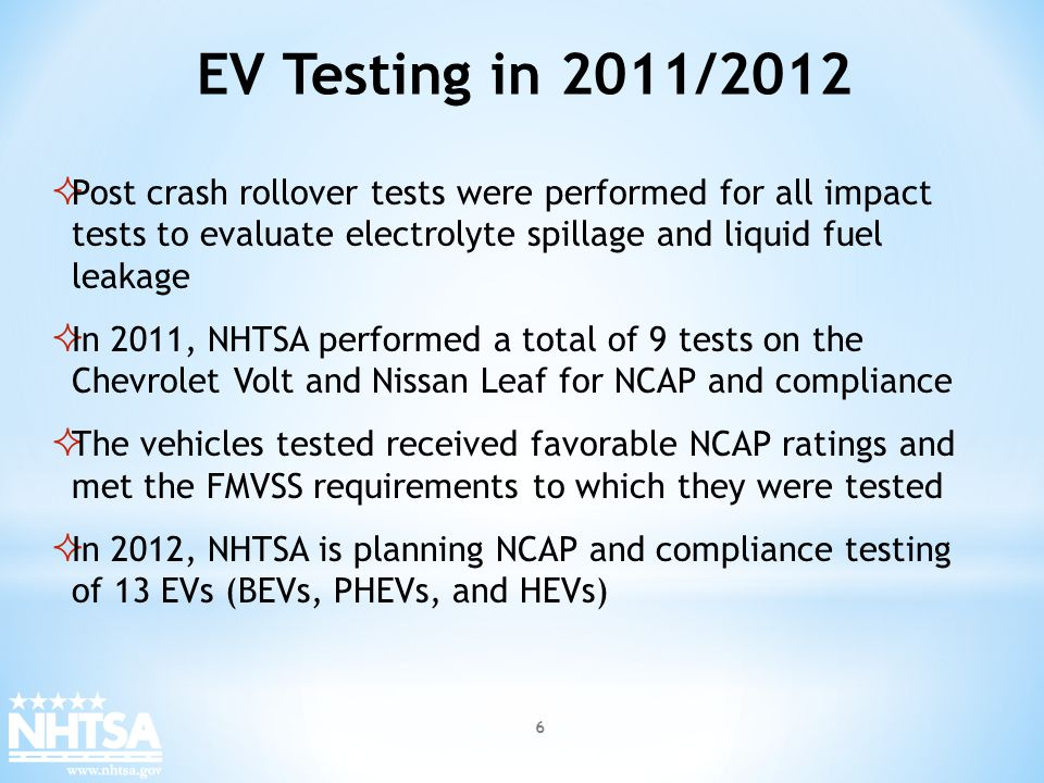 Test Procedure Development The research objective is to develop and document repeatable vehicle-level safety performance test procedures with accurate definition of boundary and test limit conditions to measure the effects of the failure modes created during all operating conditions.
