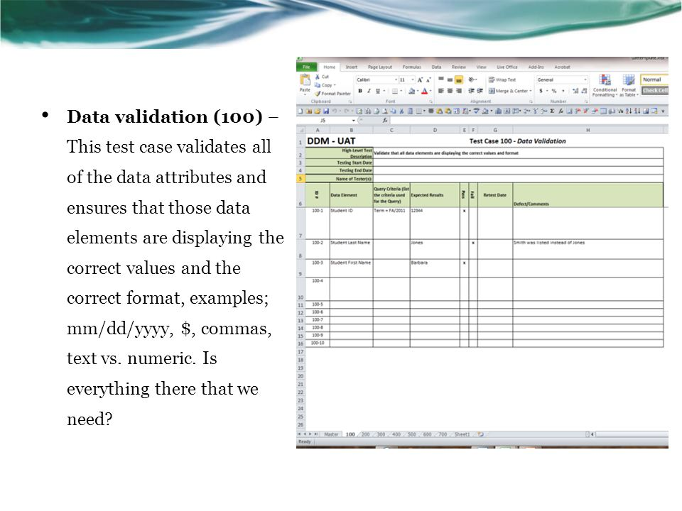 Joins (200) - This test case validates how the data elements are joined with the tables at the source level.