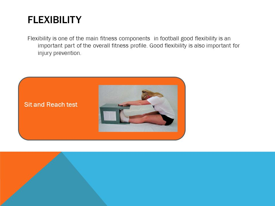 TASKS P1 describe one test for each component of physical fitness, including advantages and disadvantages Task 1: Explain the components of fitness that we test in football and why.
