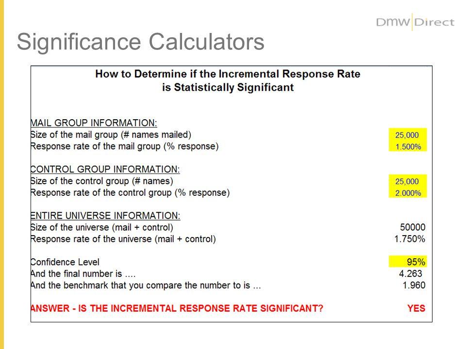 Significance Calculators