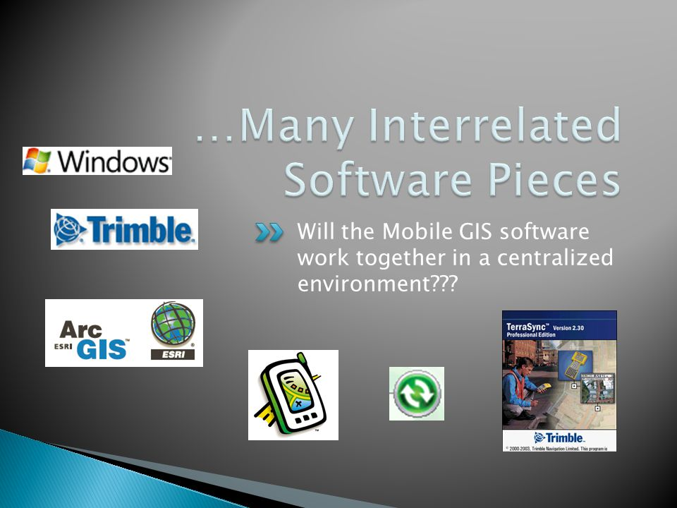 Will the Mobile GIS software work together in a centralized environment???