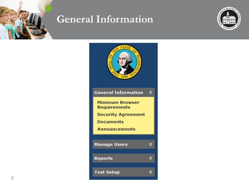 9 General Information