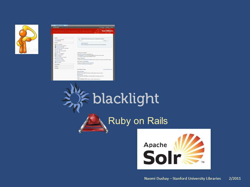 Ruby on Rails Naomi Dushay – Stanford University Libraries 2/2011