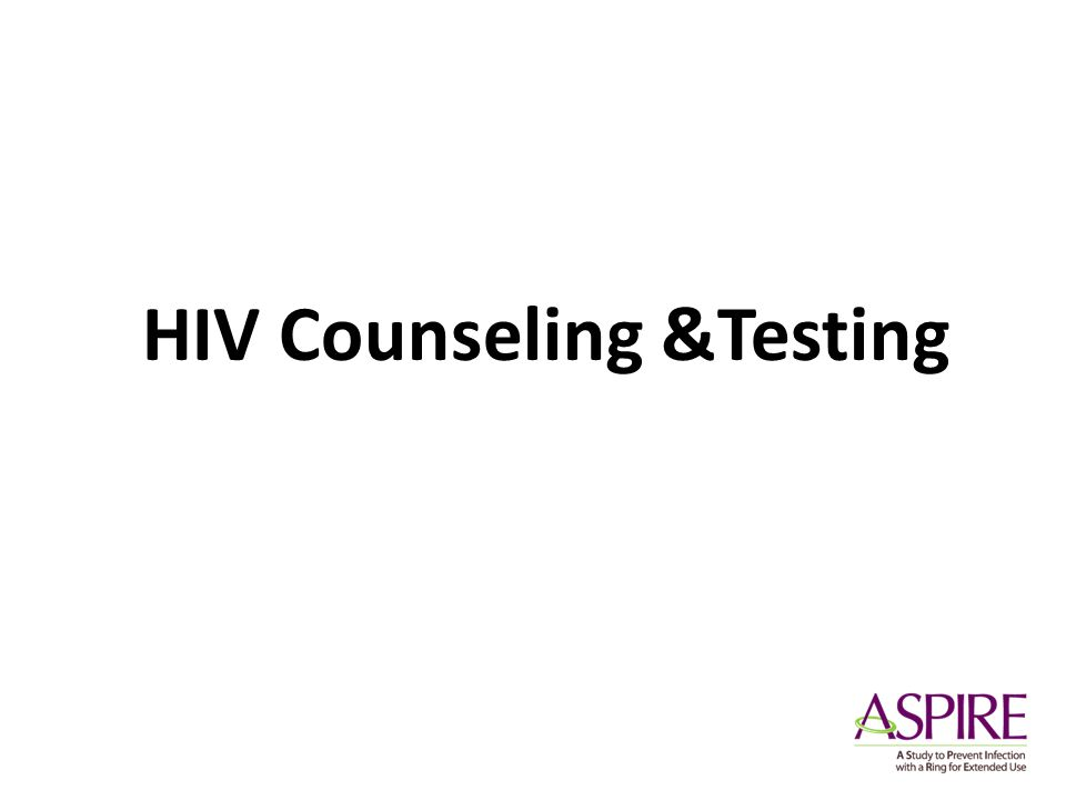 HIV Counseling &Testing