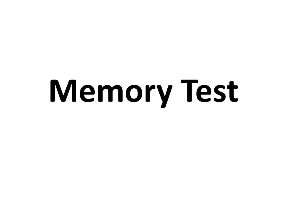 At the end of this test, you are asked a question.