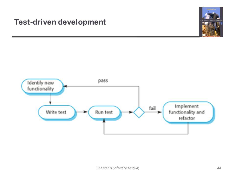 Test-driven development 44Chapter 8 Software testing