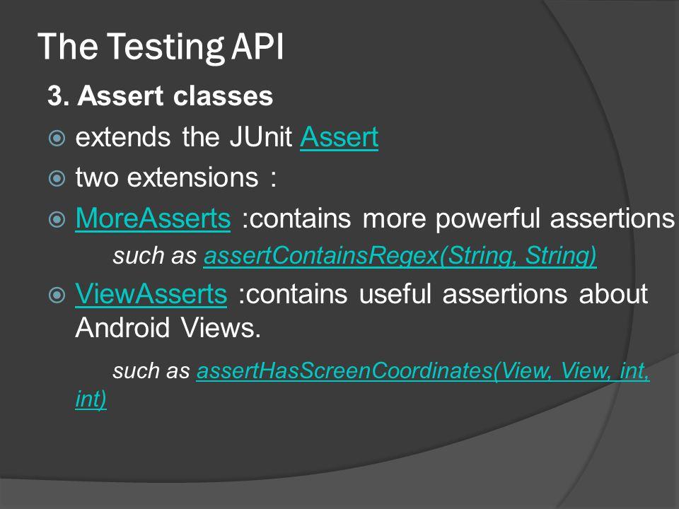 The Testing API 3.