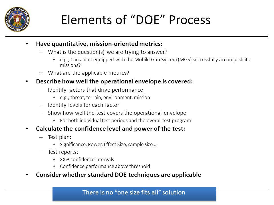Quantitative, Mission-Oriented Metrics