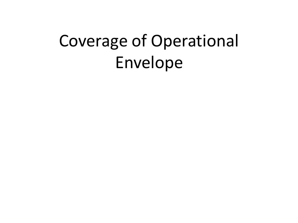 Coverage of Operational Envelope
