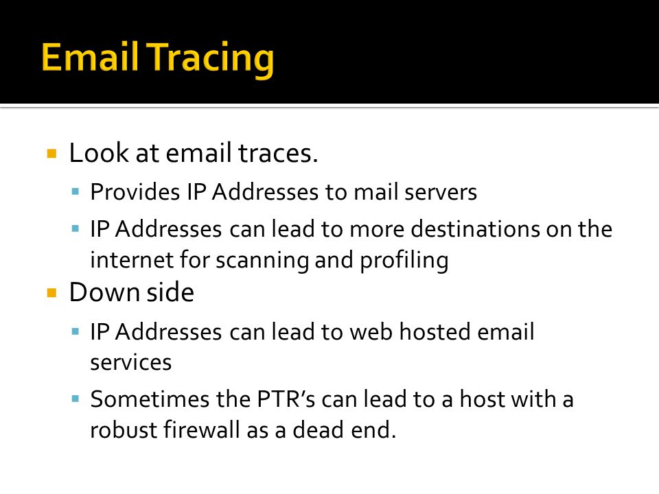 Look at email traces.