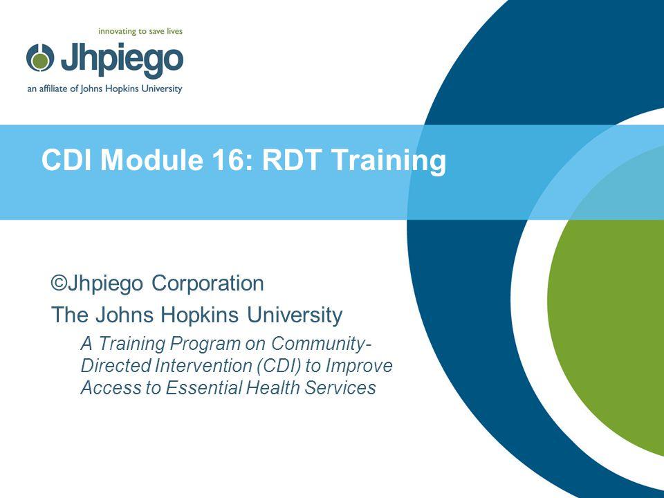 RDT Performance ChecklistProcedure 1 42 ProcedureTask 1.