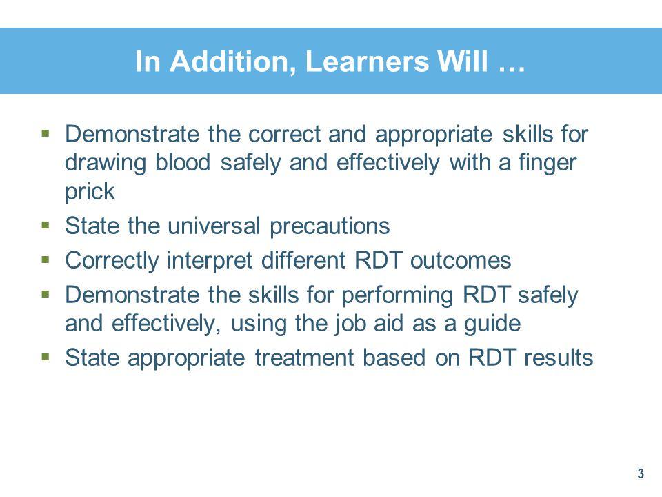 RDT Performance ChecklistProcedure 3 ProcedureTask 3.