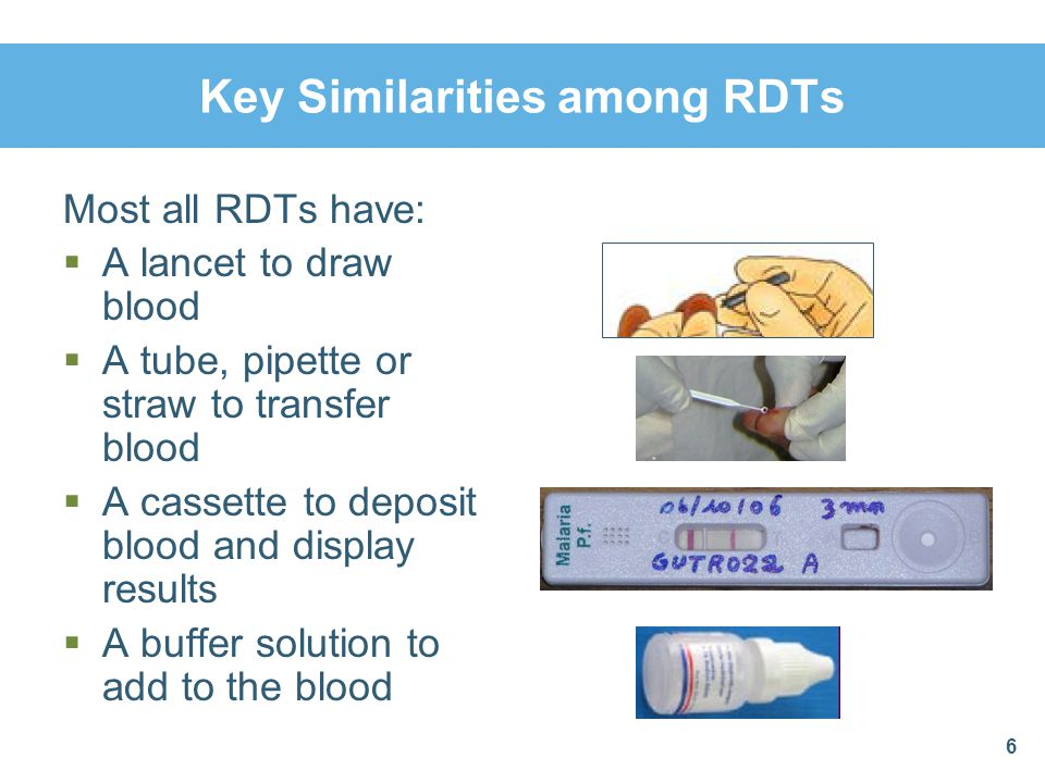 Dispense the Buffer Reagent Appropriately Dispense the appropriate number of drops of the buffer reagent to the appropriate hole (round hole) of the cassette Read out from packet insert the number of drops recommended for the type of RDT being used 27