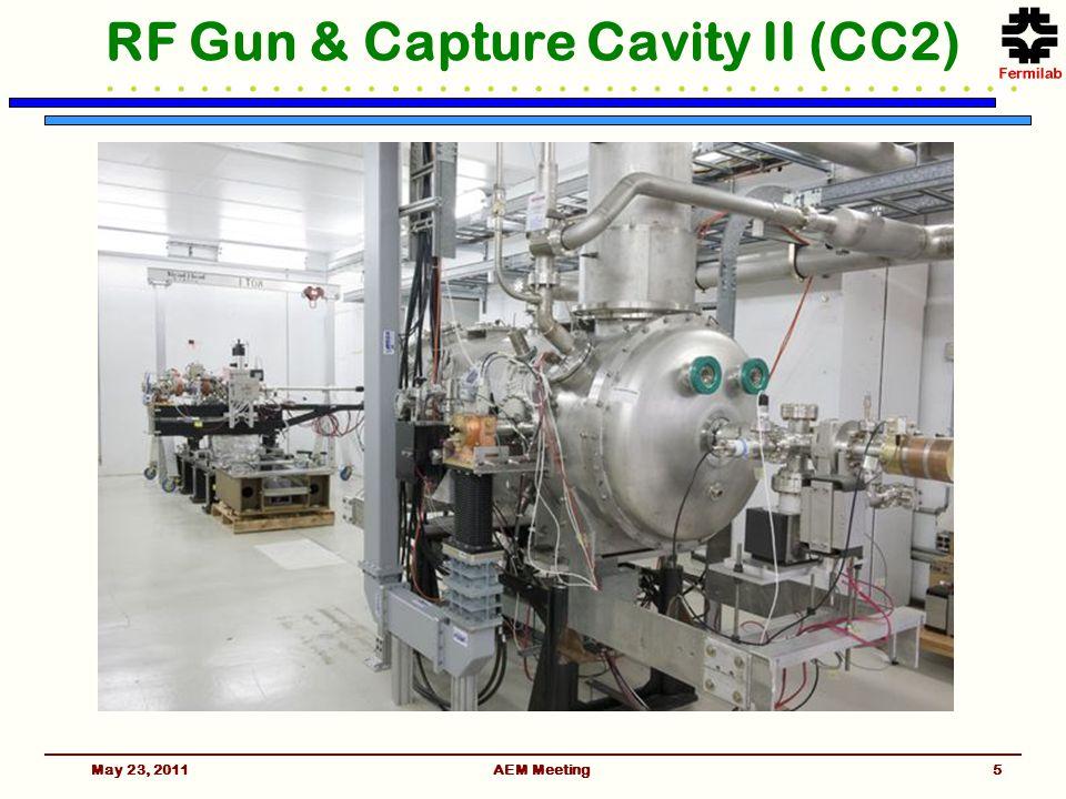 May 23, 2011AEM Meeting5 RF Gun & Capture Cavity II (CC2)