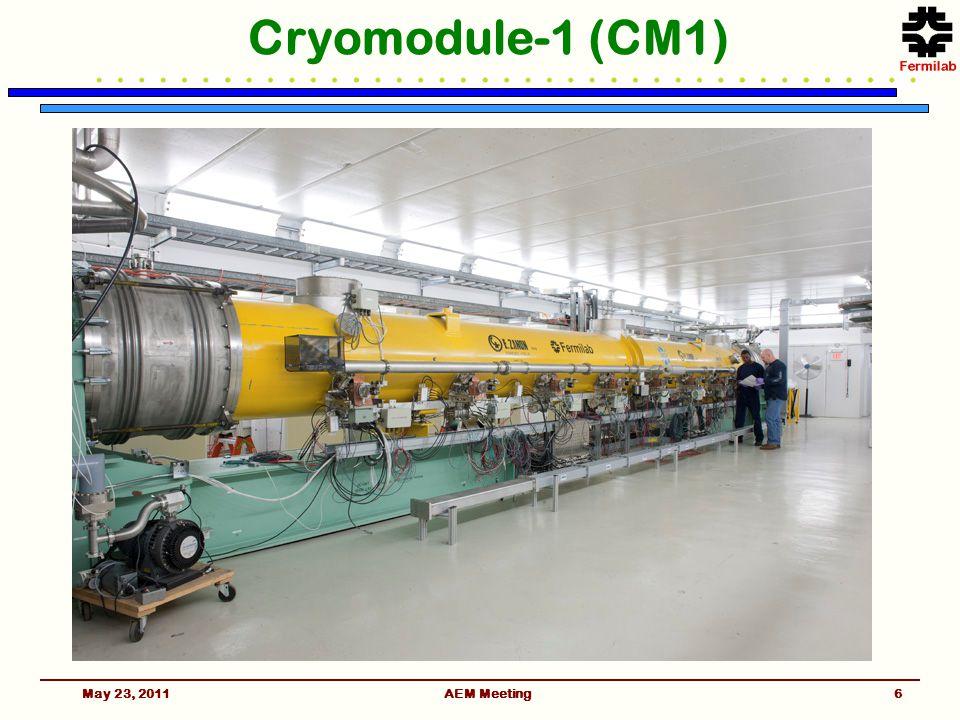 Cryomodule-1 (CM1) May 23, 2011AEM Meeting6