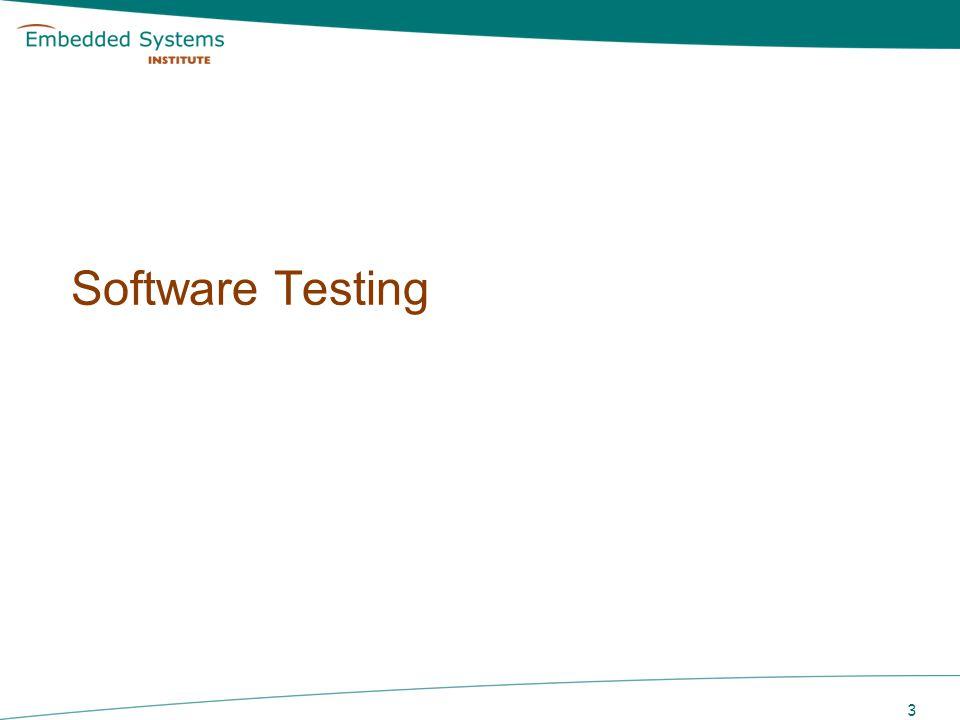 3 Software Testing