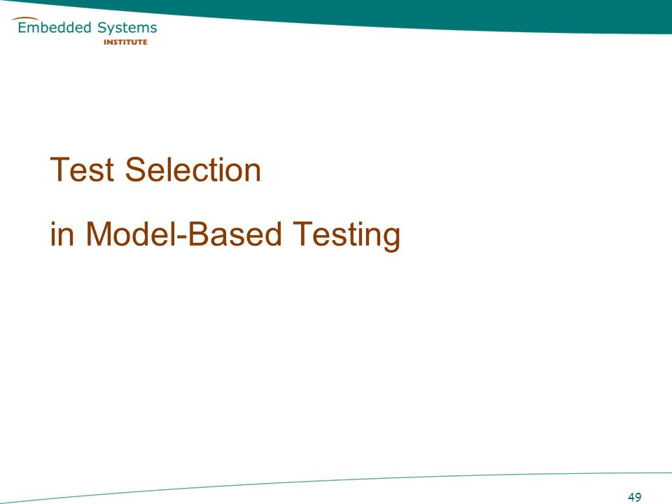 Test Selection Exhaustiveness never achieved in practice Test selection to achieve confidence in quality of tested product –select best test cases capable of detecting failures –measure to what extent testing was exhaustive Optimization problem best possible testing within cost/time constraints 50