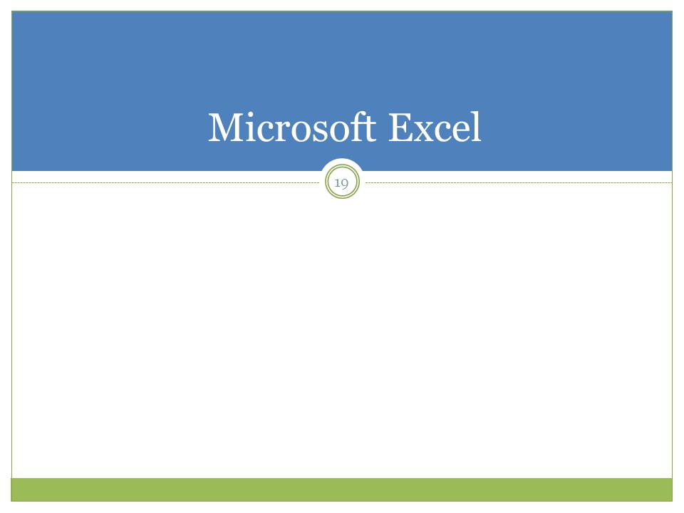 Microsoft Excel 19