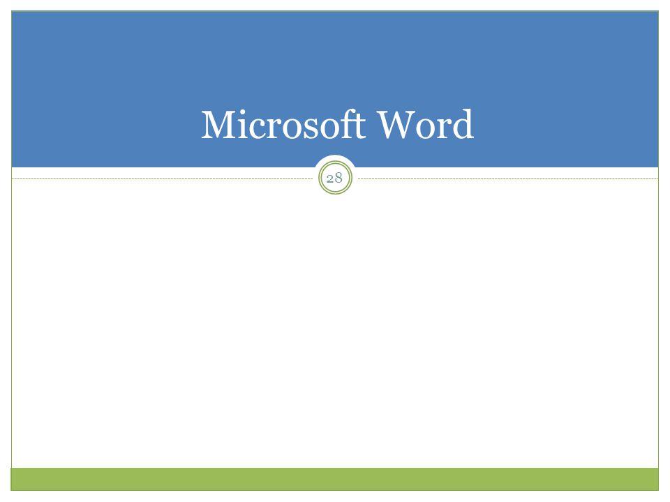 Microsoft Word 28