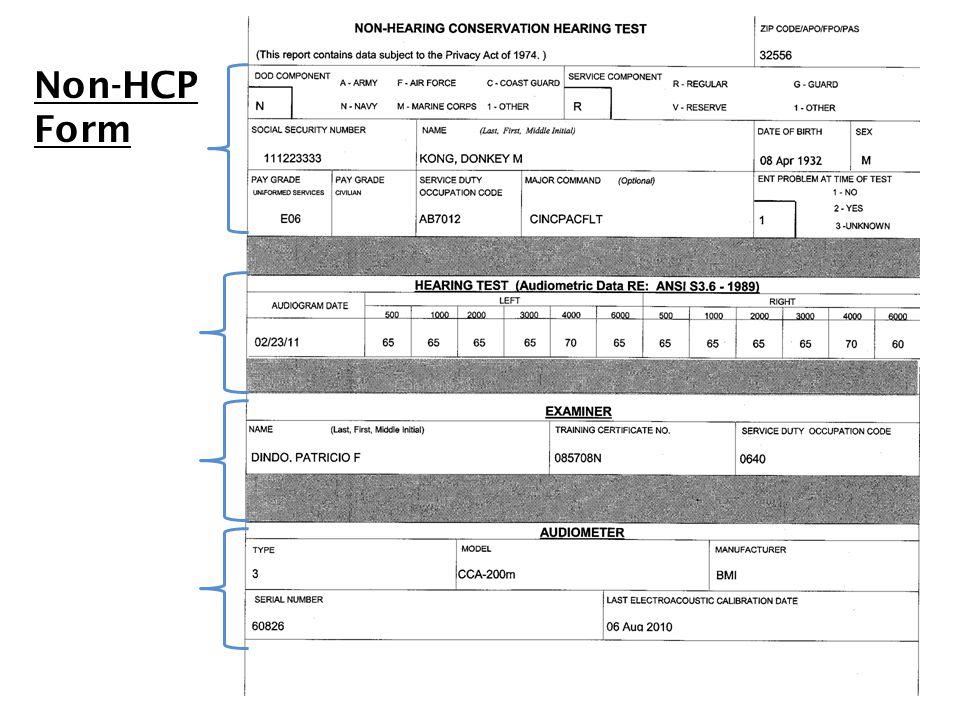 9 Non-HCP Form