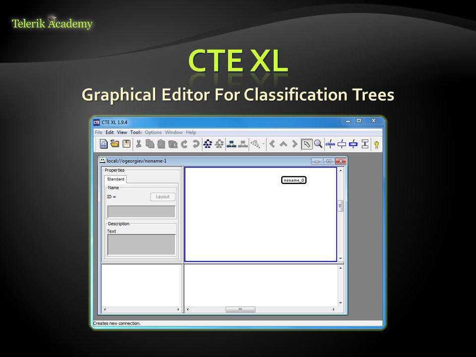 Graphical Editor For Classification Trees