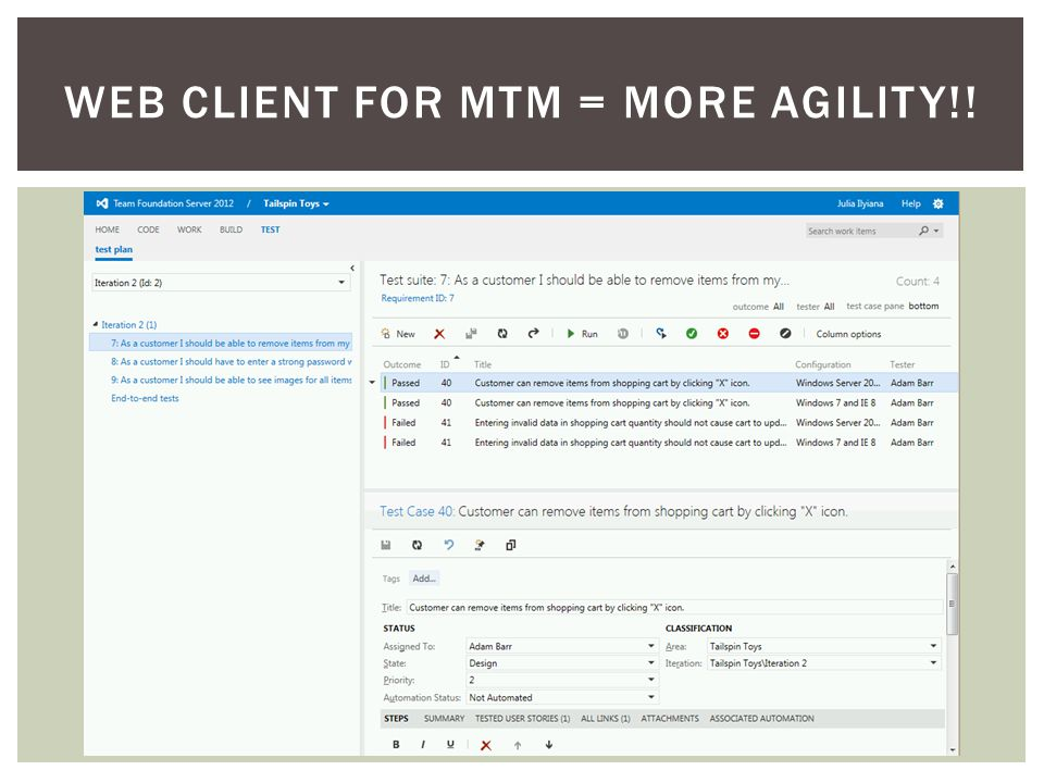 WEB CLIENT FOR MTM = MORE AGILITY!!