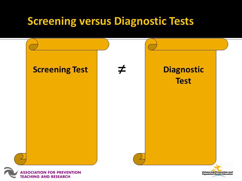 Diagnostic Test Screening Test