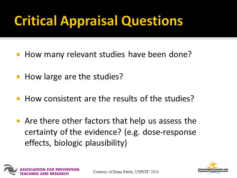 How many relevant studies have been done.How large are the studies.