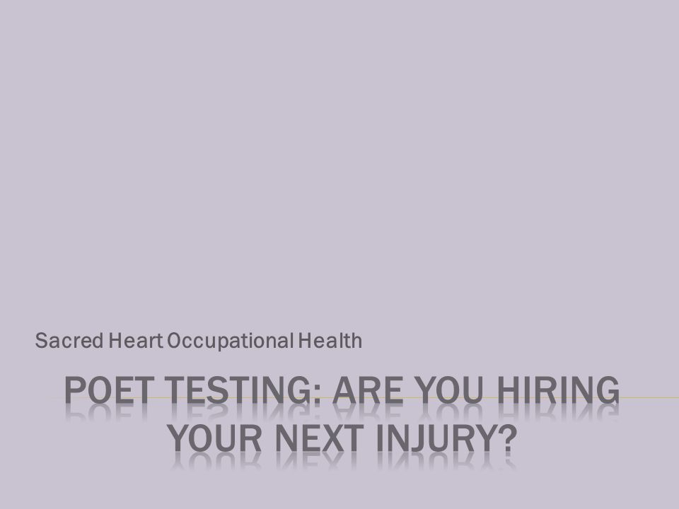 Sacred Heart Occupational Health