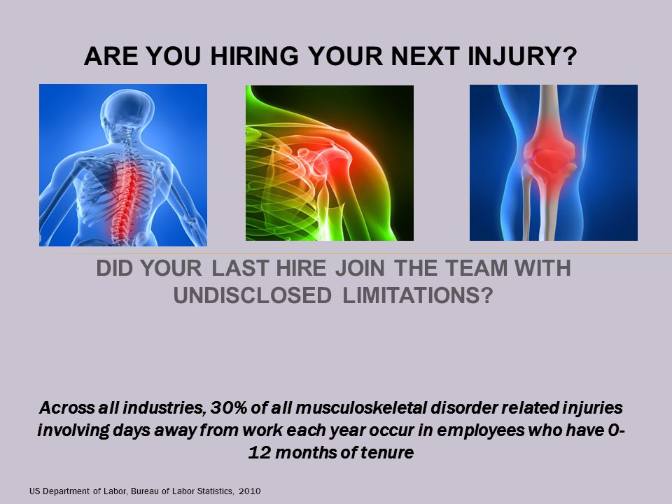 DID YOUR LAST HIRE JOIN THE TEAM WITH UNDISCLOSED LIMITATIONS.