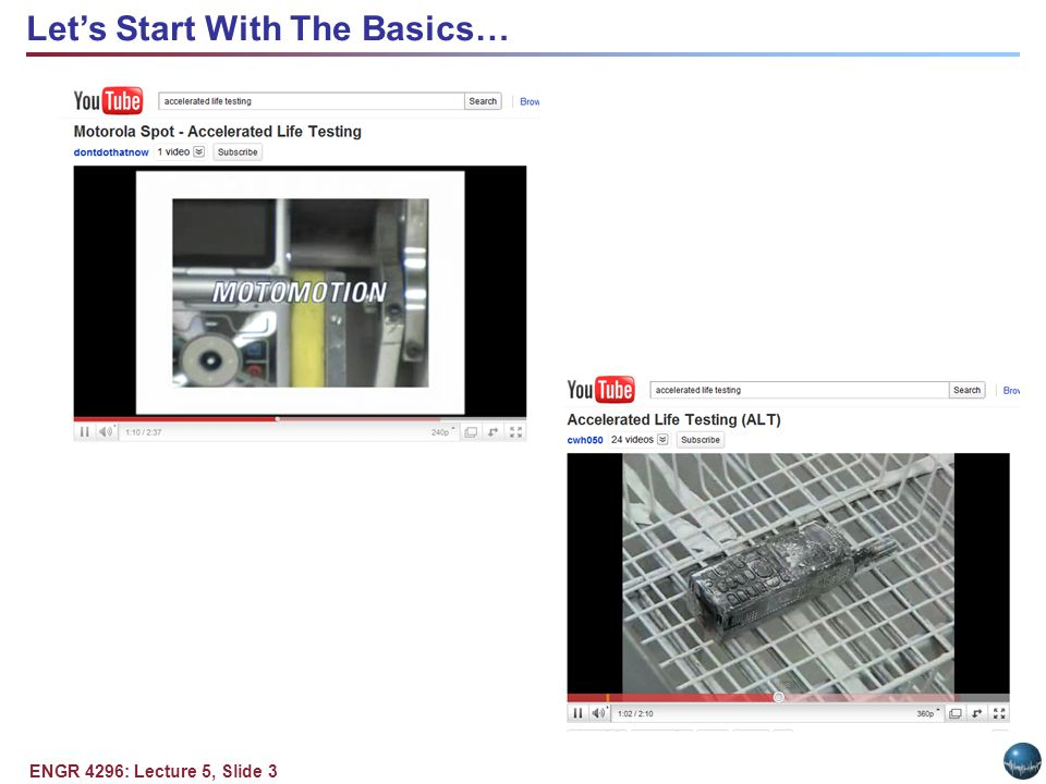 ENGR 4296: Lecture 5, Slide 3 Lets Start With The Basics…