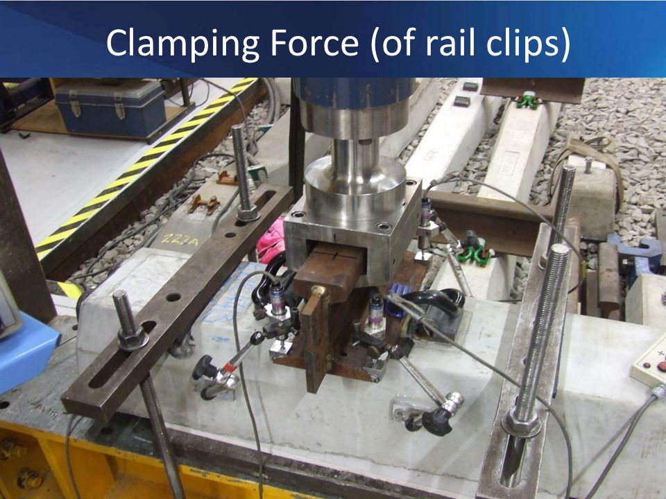 Repeated Load Test - Purpose Pre Repeated Load Test Series Clamping Force Longitudinal Rail Restraint Vertical Stiffness Repeated Load Test Post Repeated Load Test Series Clamping Force Longitudinal Rail Restraint Vertical Stiffness